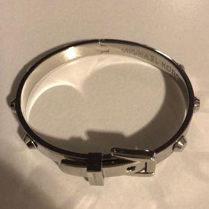 Michael Kors silver studded hinge bracelet